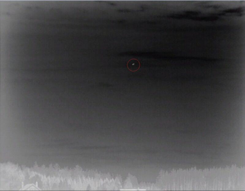 Обнаружение малоразмерного БПЛА на расстоянии 3,5 км тепловизором АСТРОН