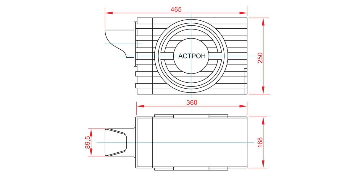 Габаритный чертеж и размеры АСТРОН-2А