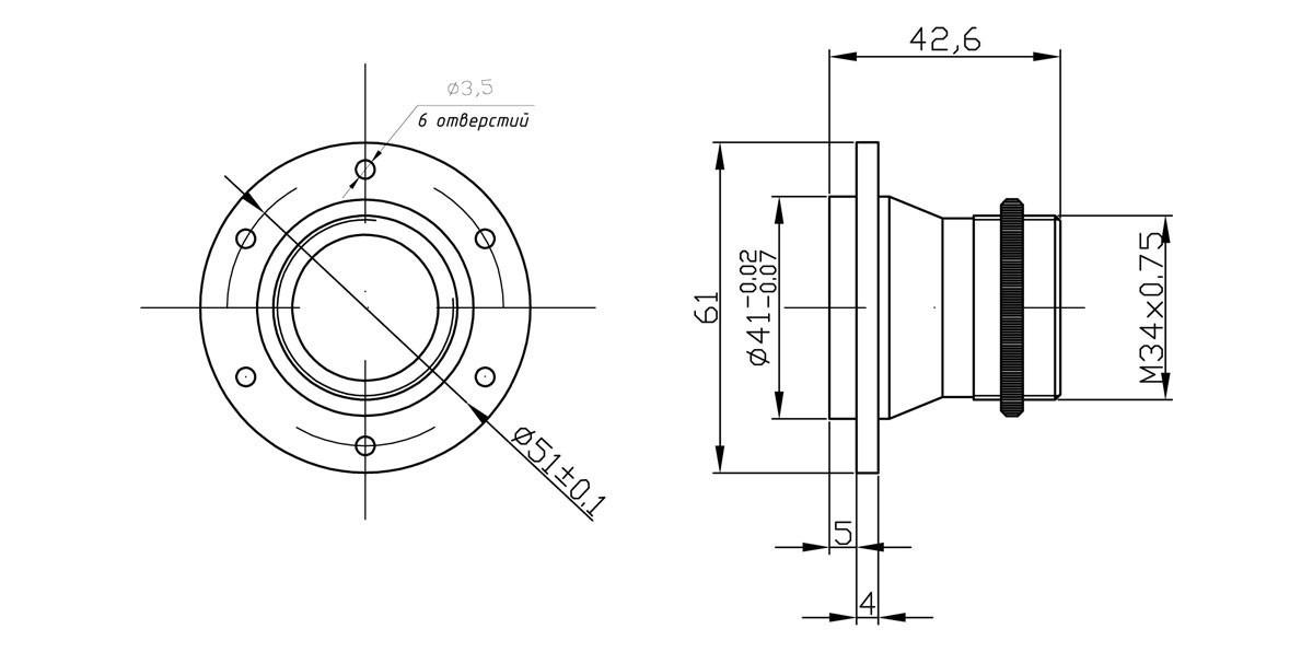 Габаритный чертеж и размеры АСТРОН-20Ф10