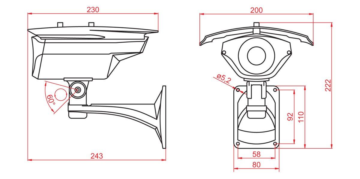 Габаритный чертеж и размеры АСТРОН-IQ384