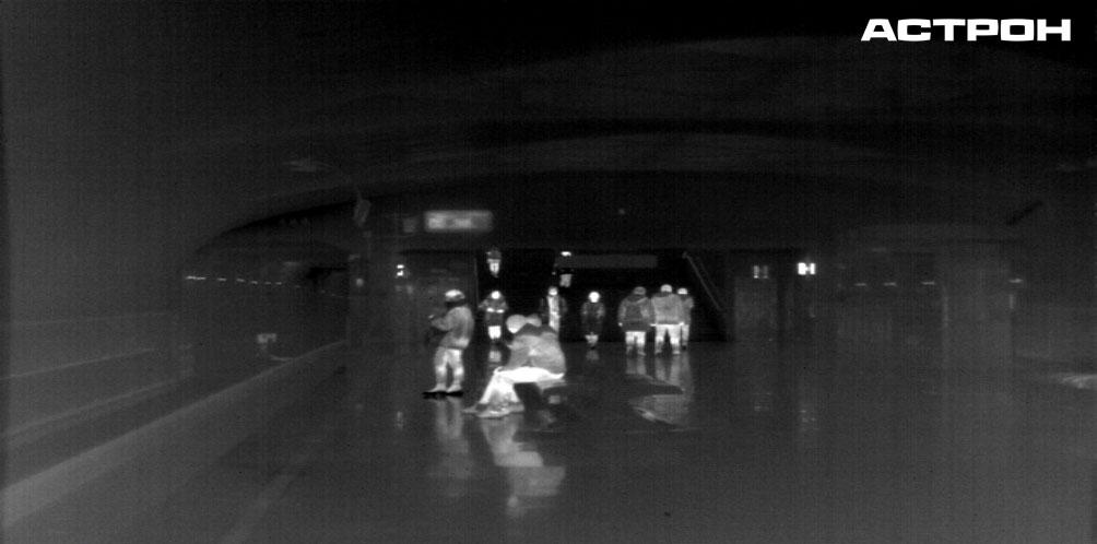 Московское метро в тепловизионном диапазоне