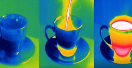 Чай в тепловом диапазоне
